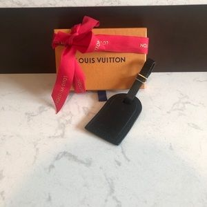 Authentic Louis Vuitton luggage tag